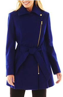 Lapis-colored Siena Studio raincoat