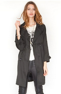 Rosa Drape Trench Coat