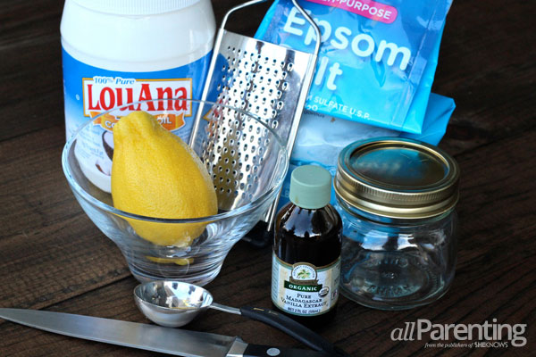 allParenting lemon vanilla salt scrub ingredients
