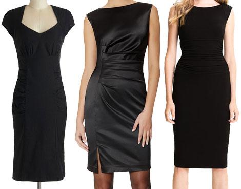 Sheath style little black dresses