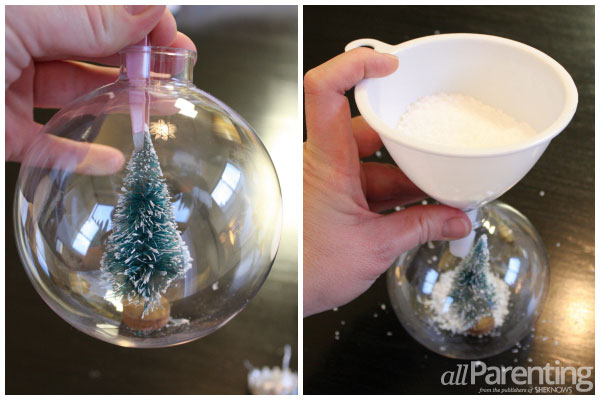 allParenting snow globe ornament step 2