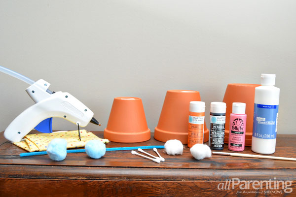 allParenting stacked pot snowman materials