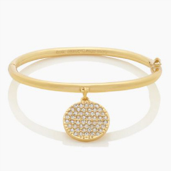 KATE SPADE ALL THAT GLITTERS PAVE IDIOM BRACELET