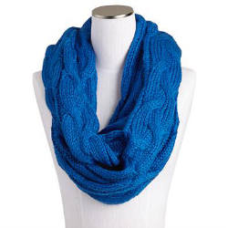 SPUN BY SUBTLE LUXURY INFINITY CHUNKY SWEATER KNIT SCARF