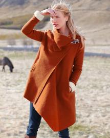 Unconventional coats- Asymmetrical wool coat