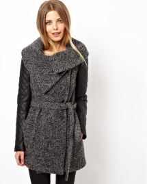 Unconventional coats- Quilted sleeve coat