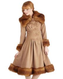 Unconventional coats- Luxe fur-trimmed coat