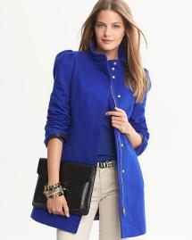 Unconventional coats- Bright blue coat