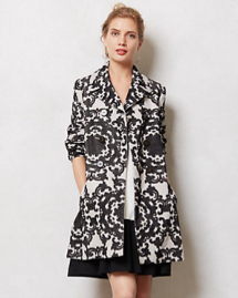 Unconventional coats- Black and white coat