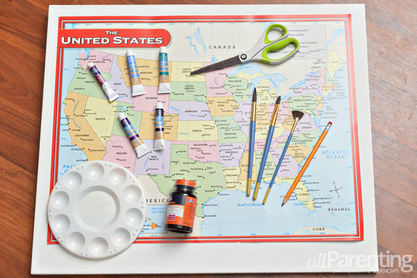 allParenting water color map materials