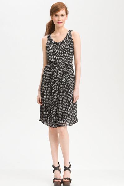 Halogen black chiffon dress