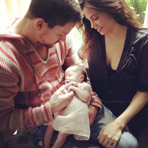 Channing Tatum and Jenna Dewan with Everly