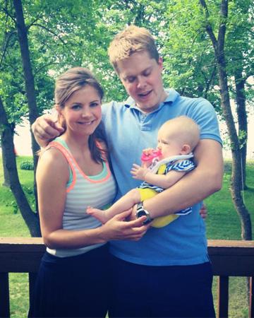 Christina with husband and daughter