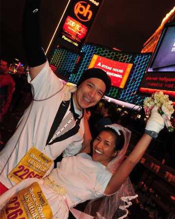 A wedding at the Rock 'n' Roll Las Vegas Marathon