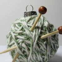 Yarn ball ornament