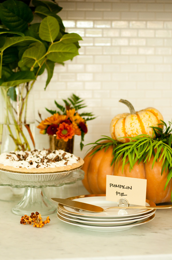 Dessert Station with Pumpkin Pie