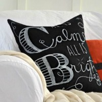 DIY Chalkboard art pillow