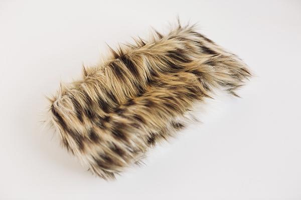 Faux fur stole by Adrienne Landau