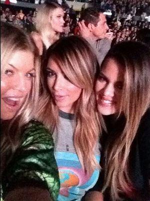 Fergie, Kim Kardashian and Khloe Kardashian