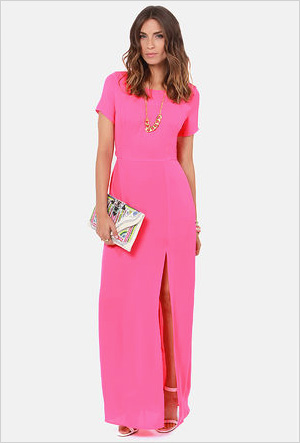 Shop the look: Lush Don't Call it a Comeback Pink Maxi (lulus.com, $48)