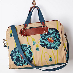 Floral weekender bag