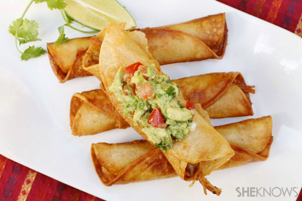 Shredded turkey taquitos