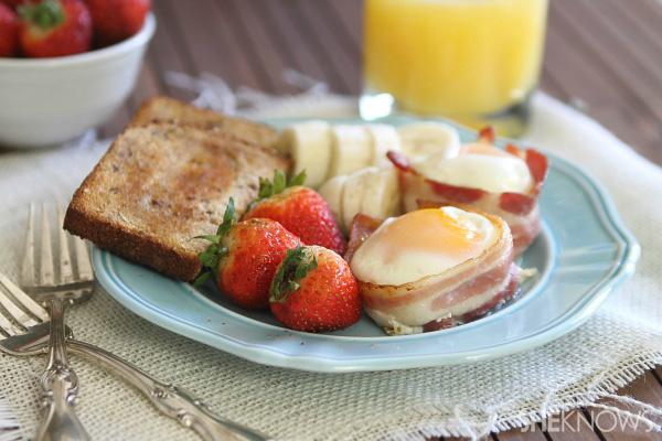 Breakfast wrapped in bacon!