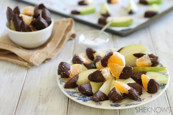 Sea salt chocolate dipped fruit snacks