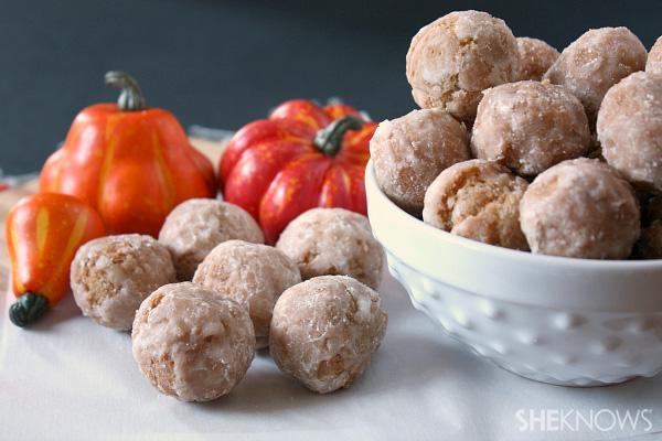 Homemade fried pumpkin donut drops