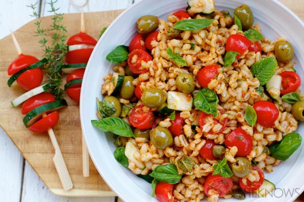 Mediterranean barley salad