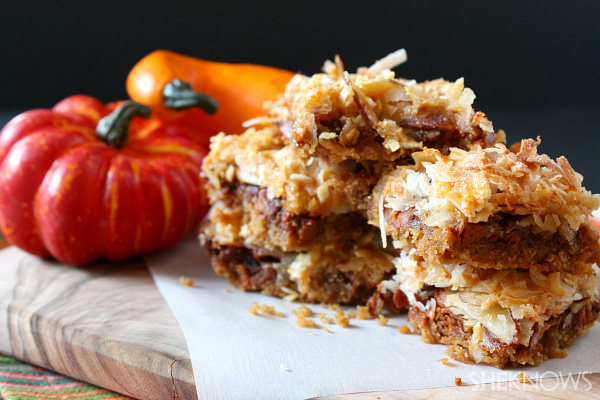 Pumpkin 7-layer bars