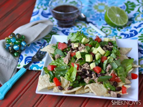 Sunday dinner: Lightened-up taco salad with pomegranate dressing