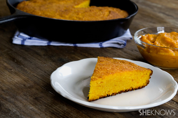 Moist cornbread with sweet potatoes