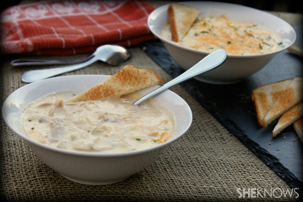 Turkey and cheese chowder recipe