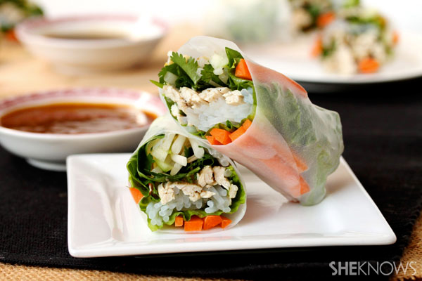 Turkey and veggie spring rolls