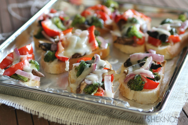 Open face roasted veggie melts