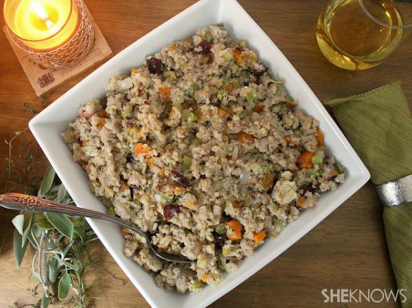 Gluten free quinoa stuffing recipe
