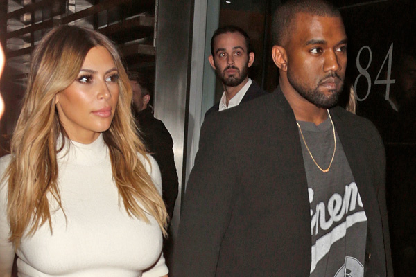 Kanye & topless Kim ride into the sunset