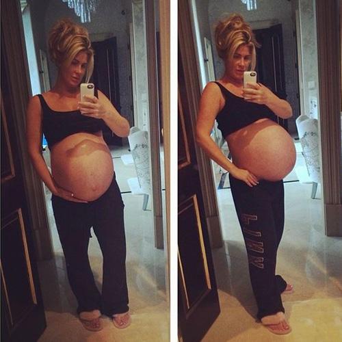 Pregnant Kim Zolciak - Twin baby bump