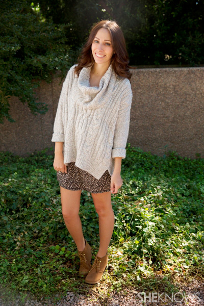 Get cozy in over-sized knits this fall