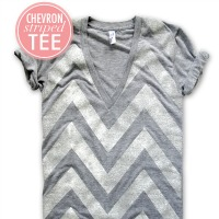 Glittered chevron t-shirt