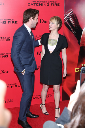 Actor gushes on Catching Fire co-star