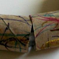 Toilet paper roll bracelet