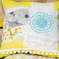 Love notes pillow
