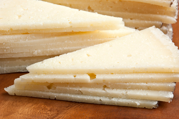 White salty cheese