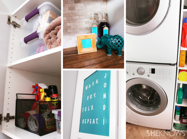 Check out photos from Heidi and Jon's laundry room makeover!