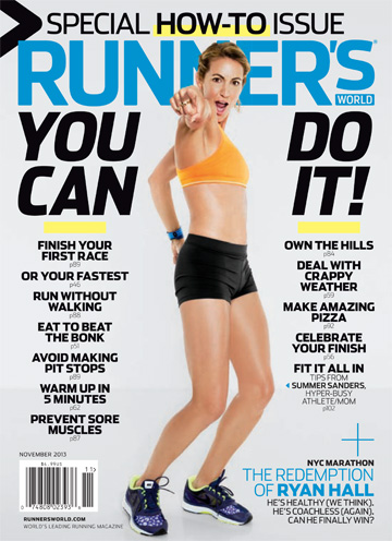 Summer Sanders on cover of Runner's World