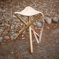 Folding camping stool
