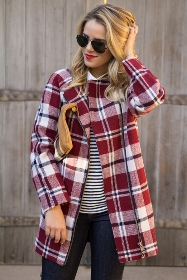 Plaid coat