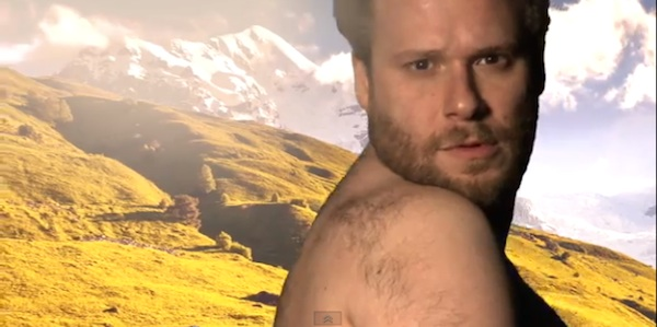 "Rogen as Kardashian ""Bound 2"" parody still 2"
